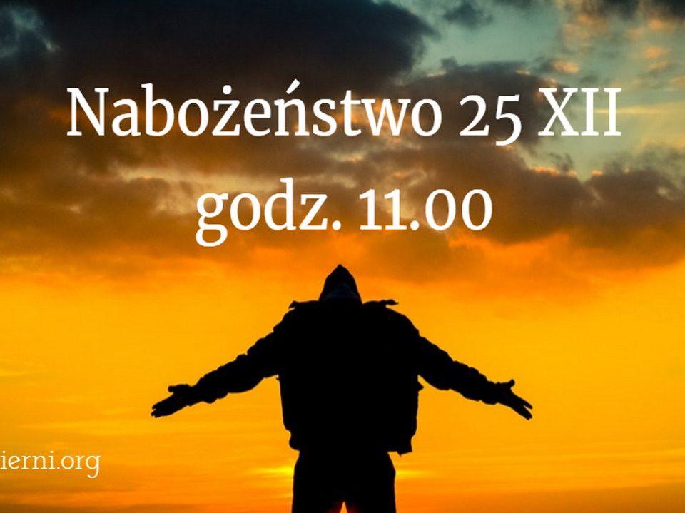 nabożeństwo 25 XII